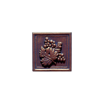 Interceramic Metal Impressions - Grapevine 2 X 2 Deco (Dropped) Deco B Bronze MEIMBROZ2DBG