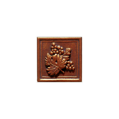 Interceramic Metal Impressions - Grapevine 2 X 2 Deco (Dropped) Deco B Copper MEIMCOPP2DBG