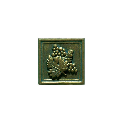 Interceramic Metal Impressions - Grapevine 2 X 2 Deco (Dropped) Deco B Nickel MEIMNICK2DBG