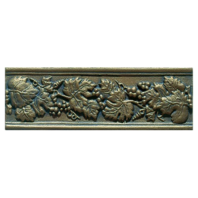 Interceramic Metal Impressions - Borders Grapevine (Dropped) Nickel MEIMNICK412BG