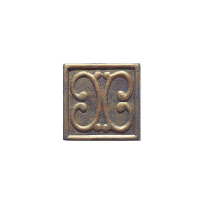 Interceramic Metal Impressions - MetalArt 4 X 4 Deco (Dropped) Deco B Bronze MEIMBROZ4DBM
