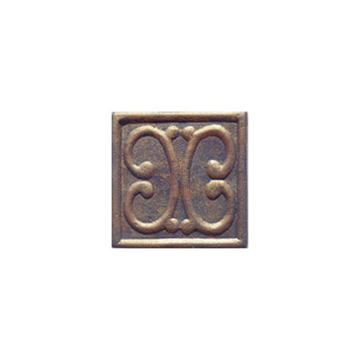 Interceramic Metal Impressions - MetalArt 4 X 4 Deco (Dropped) Deco B Copper MEIMCOPP4DBM