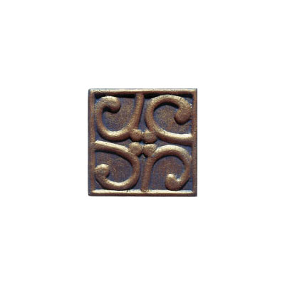 Interceramic Metal Impressions - MetalArt 4 X 4 Deco (Dropped) Deco C Bronze MEIMBROZ4DCM