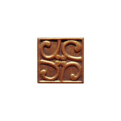 Interceramic Metal Impressions - MetalArt 4 X 4 Deco (Dropped) Deco C Copper MEIMCOPP4DCM