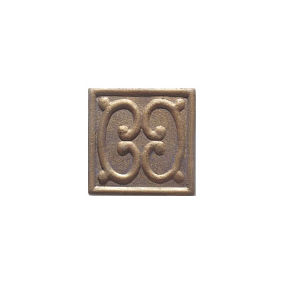 Interceramic Metal Impressions - MetalArt 2 X 2 (Disconitnued) Deco A Bronze MEIMBROZ2DAM