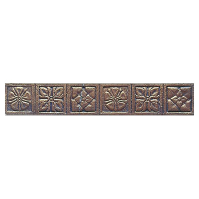 Interceramic Metal Impressions - Borders Roman Flowers (Dropped) Bronze MEIMBROZ212RF