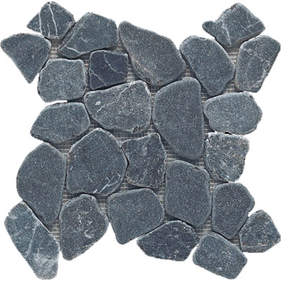 Interceramic Pebble Stone 13 x 13 Mosaic Graphite Mosaic PEBBGRAP1212