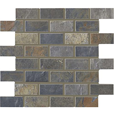 Interceramic Rustic Lodge Bricklay Mosaic 12 x 12 Ebony Dusk RUSTESDU12BM
