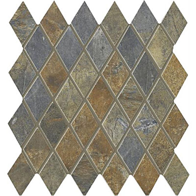 Interceramic Rustic Lodge Harlequin Mosaic 12 x 11 Ebony Dusk RUSTESDU1211H