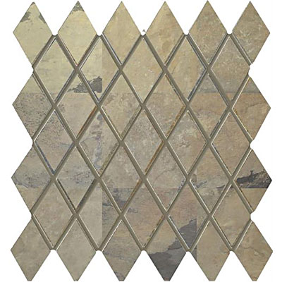 Interceramic Rustic Lodge Harlequin Mosaic 12 x 11 Golden Dawn RUSTGODA1211H