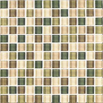 Interceramic Shimmer Blends Interglass (Mosaic) 2 x 2 Gloss Foliage SHBLFOLI22MG