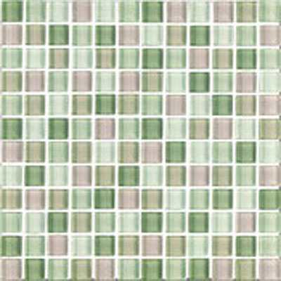 Interceramic Shimmer Blends Interglass (Brick) 1 x 2 Matte (DROP) Garden SHBLGRDN12MM