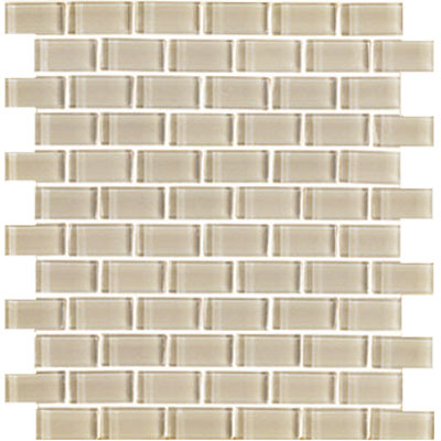 Interceramic Shimmer Interglass (Brick) 1 x 2 Gloss Beach SHIMBEAC12MG