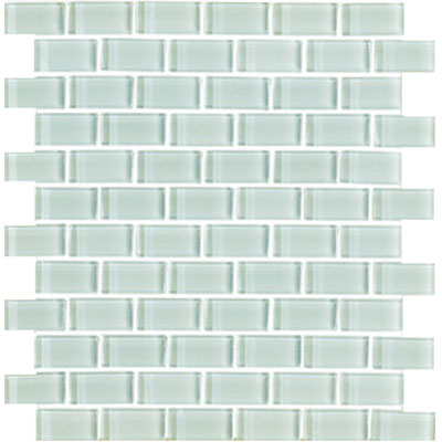 Interceramic Shimmer Interglass (Brick) 1 x 2 Gloss Snowdrift SHIMSNDR12MG