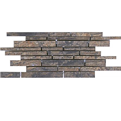 Interceramic Slate Supremo Linear Mosaic 6 x 15.75 Autumn SLSUAUTM615LM
