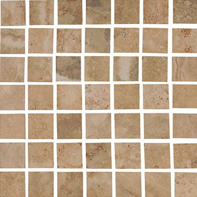 Interceramic Travertino Royal Mosaic 12 x 12 Walnut Noce TRAVNOWA22MOS