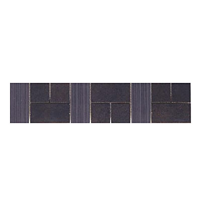 Interceramic Universal Decoratives Universal Steel Mosaic Border 4 x 8 UNVMDUW418SMB