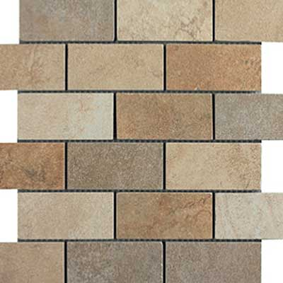 Italgres Buxy Brick Mosaic (Dropped) Multicolor