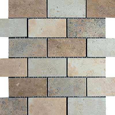 Italgres Scabos Brick Mosaic (Dropped) Multicolor