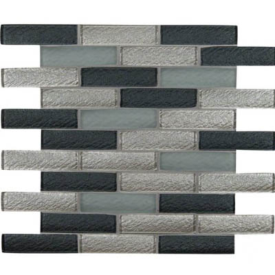 MS International Glass Mosaic 1 x 4 Cielo Brick