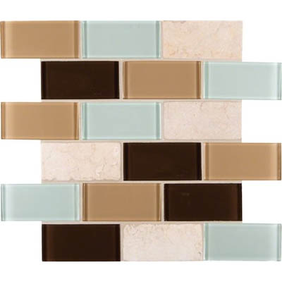 MS International Decorative Blends Mosaic 2 x 4 Desert Mirage