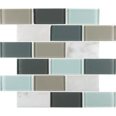 Ms international decorative blends mosaic 2 x 4 glacier peak for International decor tiles