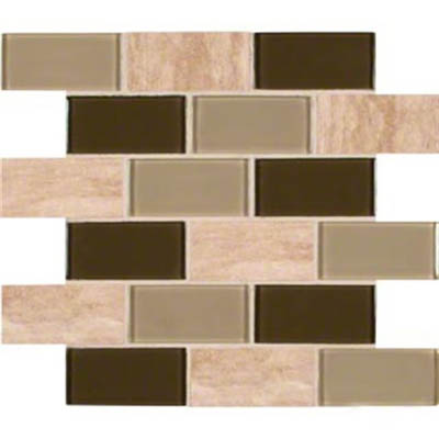 MS International Decorative Blends Mosaic 2 x 4 Pine Valley