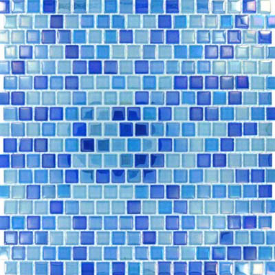 MS International Glass Mosaic 5/8 x 5/8 Dark Blue Blend