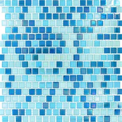 MS International Glass Mosaic 5/8 x 5/8 Sky Blue Blend
