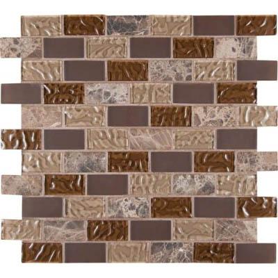 Ms international decorative blends mosaic 1 x 2 sonomo blend for International decor tiles