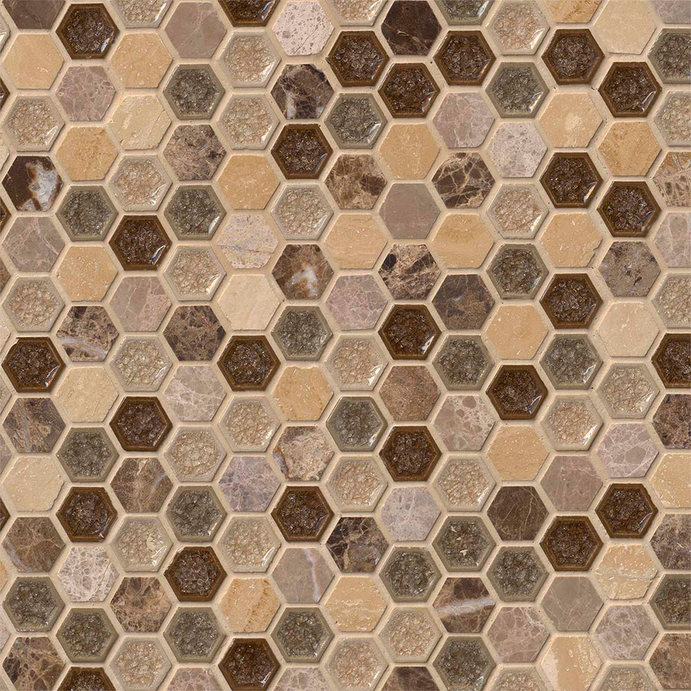 Ms international decorative blends mosaic hexagon kensington for International decor tiles