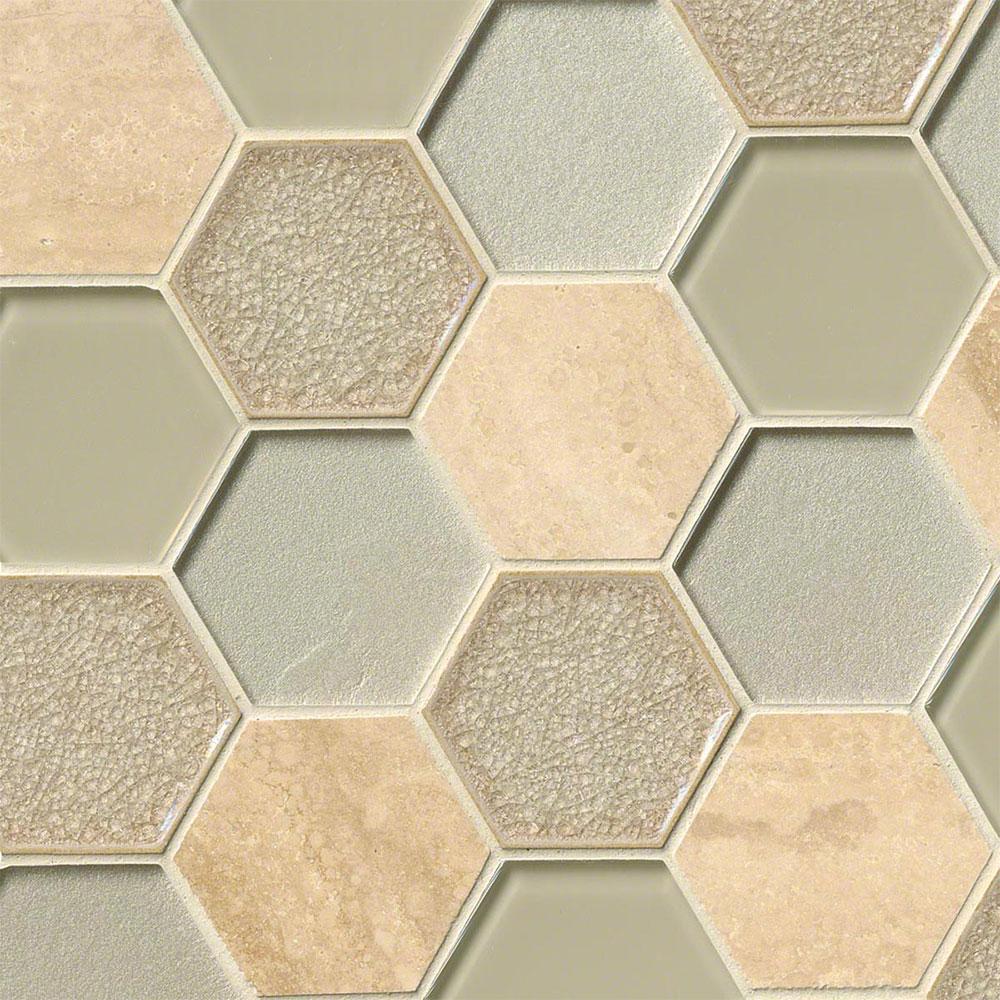 Ms international decorative blends mosaic hexagon monterra for International decor tiles