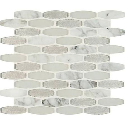 Ms international decorative blends mosaic oblong ellia blanco for International decor tiles