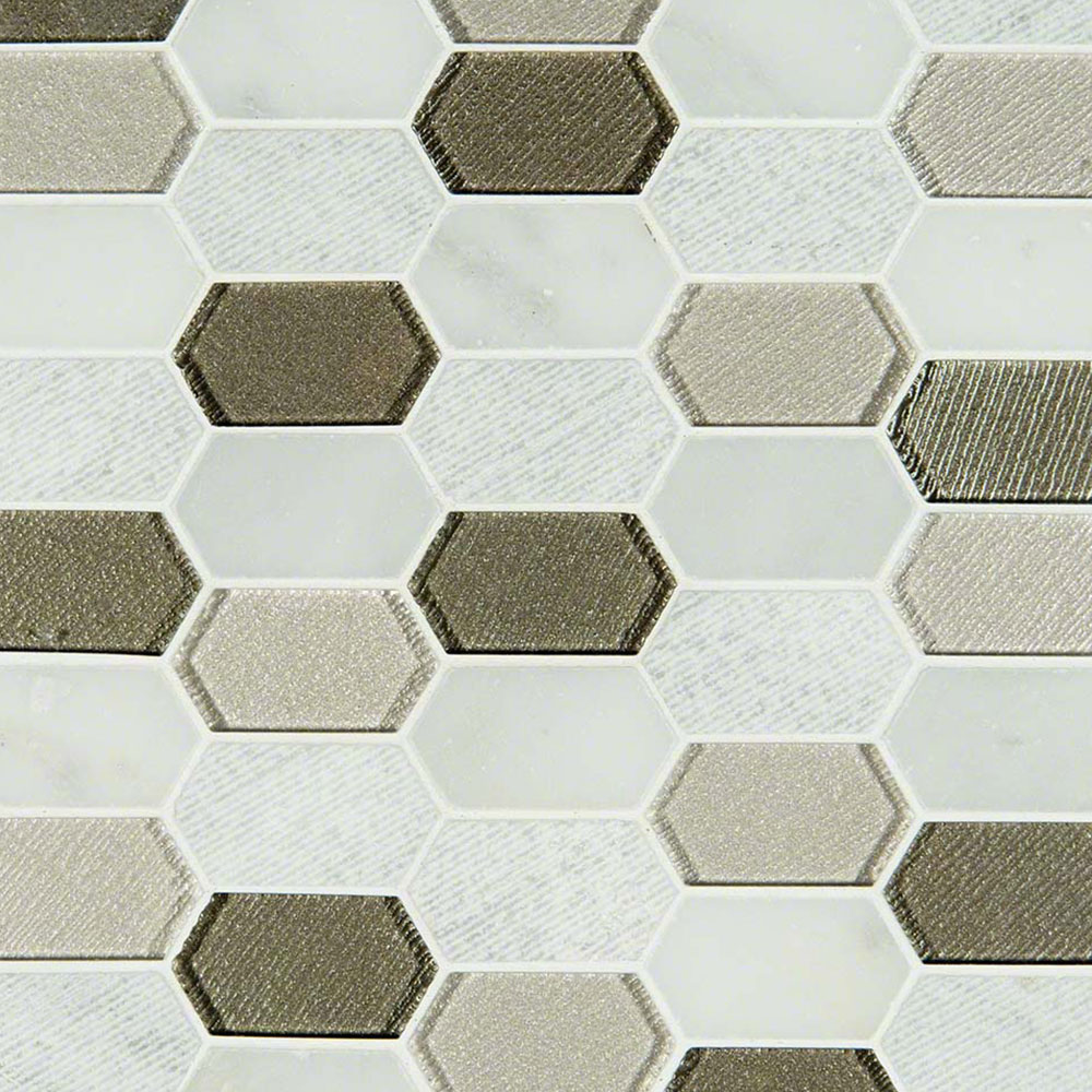 Ms international decorative blends mosaic picket pattern for International decor tiles
