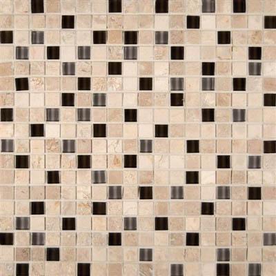 Ms international decorative blends mosaic 5 8 x 5 8 cafe noce for International decor tiles