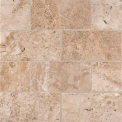 MS International Marble 3 x 6 Polished Crema Cappuccino Polished