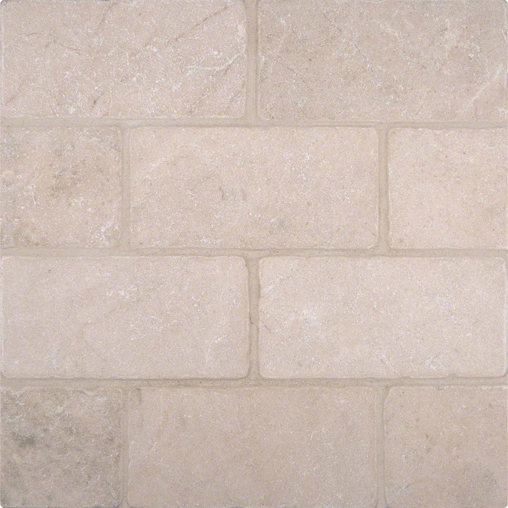 MS International Marble 3 x 6 Tumbled Crema Marfil