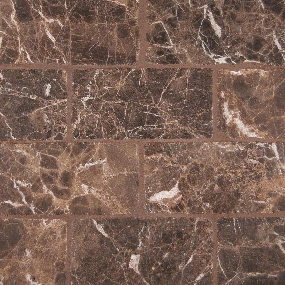 MS International Marble 3 x 6 Tumbled Emperador Dark