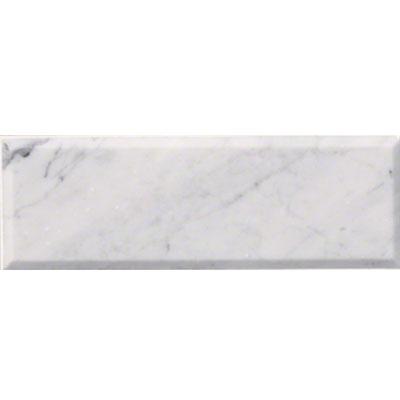 Ms international marble 4 x 12 beveled arabescato carrara for Carrara marble per square foot