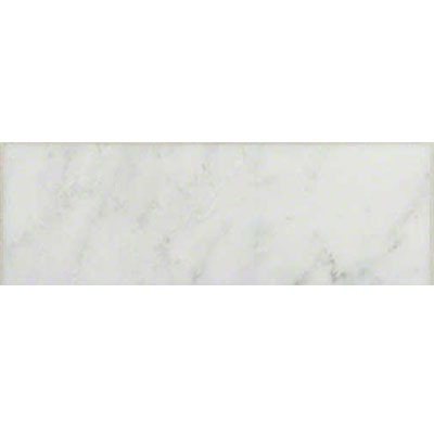MS International Marble 4 x 12 Polished Carrara White