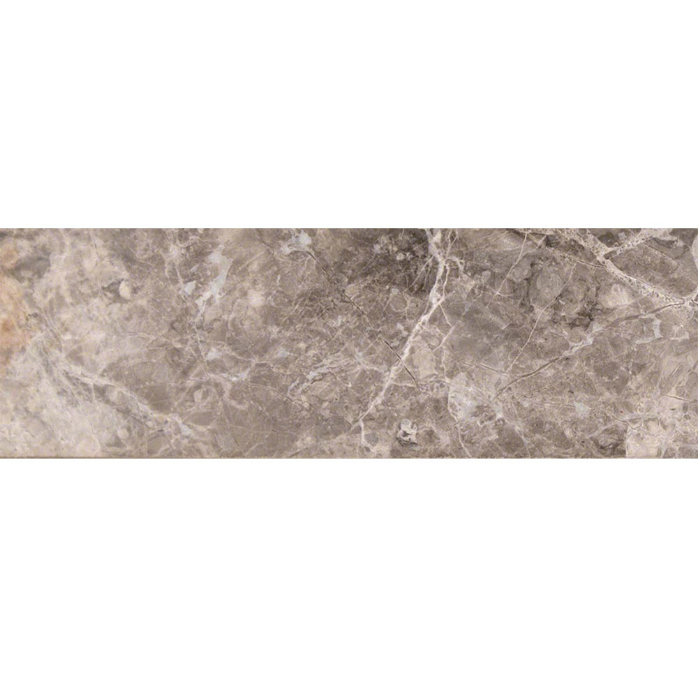 MS International Marble 4 x 12 Polished Tundra Gray