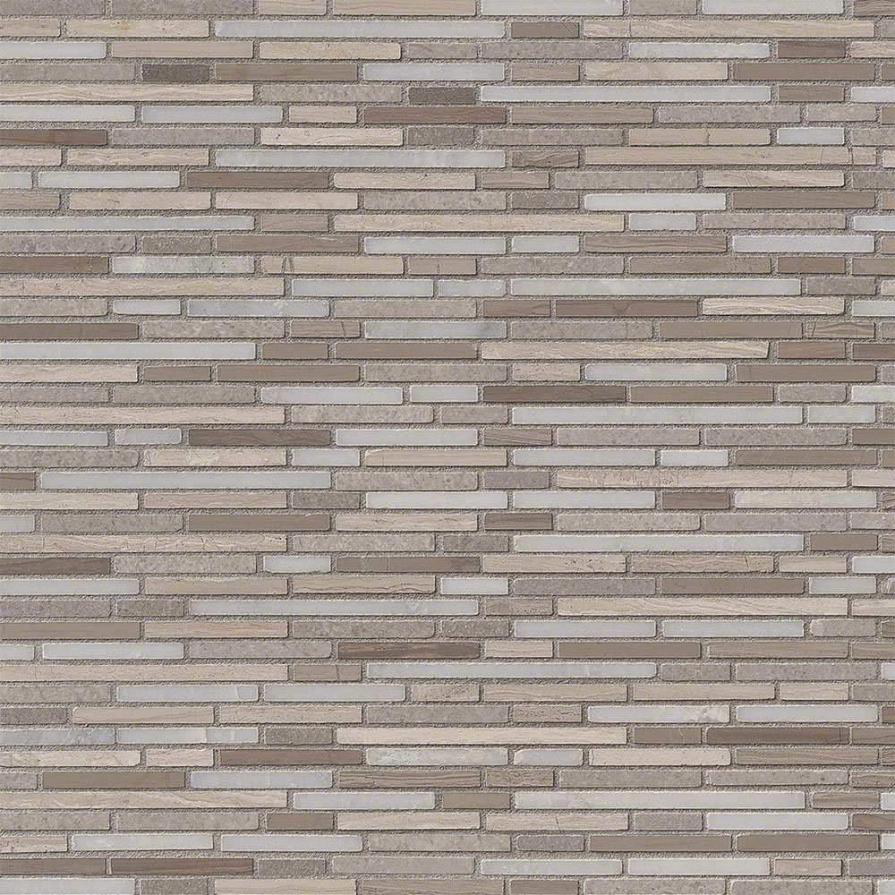 MS International Marble Mosaics Bamboo Arctic Storm