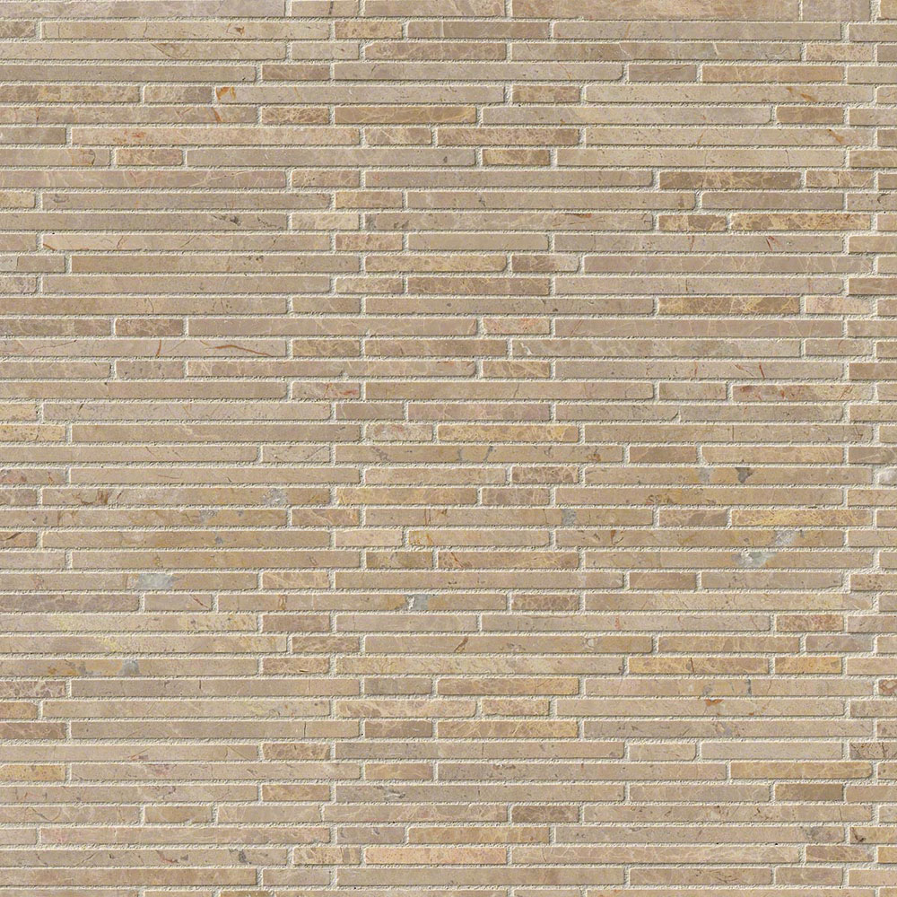 MS International Marble Mosaics Bamboo Crema Ivy
