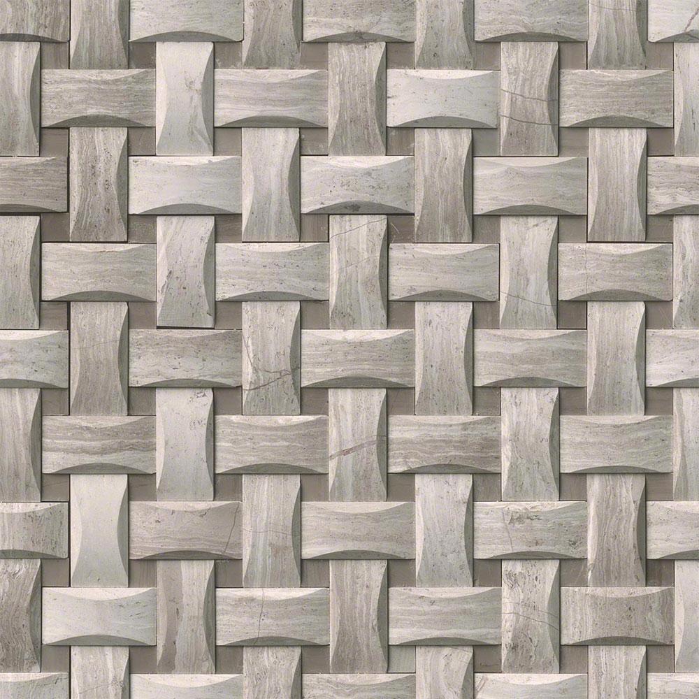 Ms international marble mosaics basketweave honed tile for Msi international