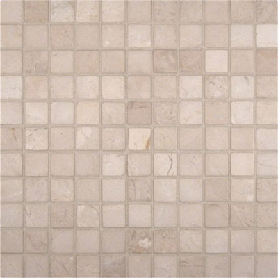 MS International Marble Mosaics 1 x 1 Tumbled Crema Marfil