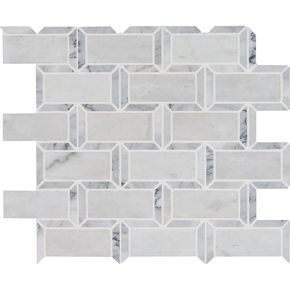 MS International Marble Mosaics Brick 2 x 4 Polished Framework