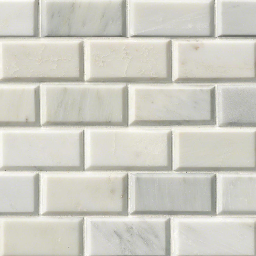 MS International Marble Mosaics Brick 2 x 4 Polished Greecian White Polished