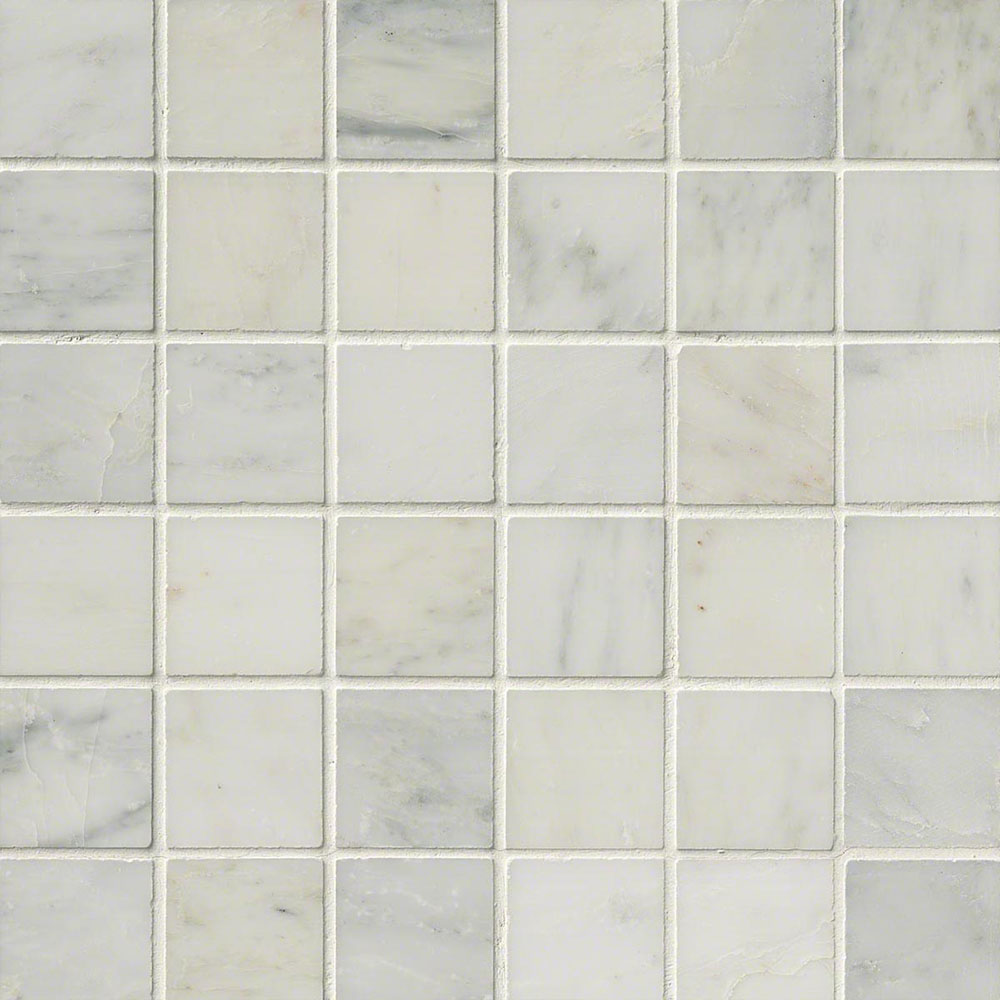 MS International Marble Mosaics 2 x 2 Honed Arabescato Carrara