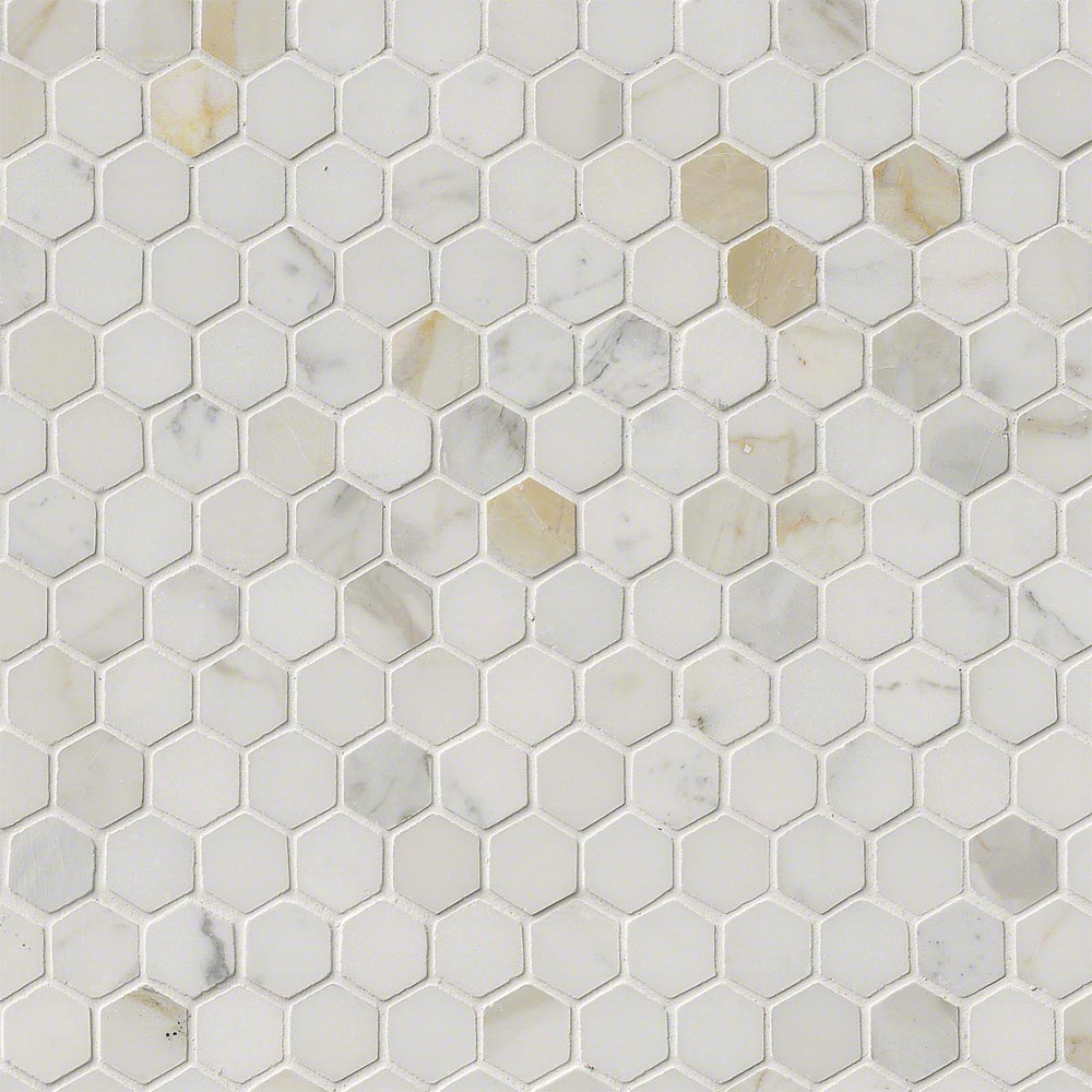 MS International Marble Mosaics Hexagon 1 X 1 Polished Calacatta Gold Polished