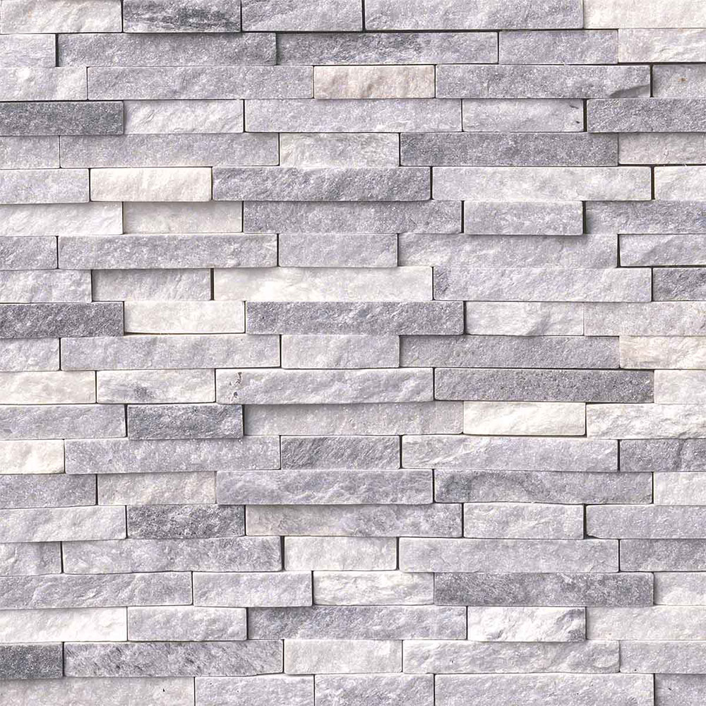 MS International Marble Mosaics Splitface Alaskan Gray